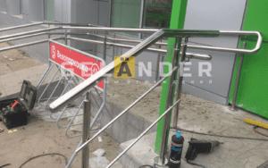 Ограждения лестницы для магазина пятерочка