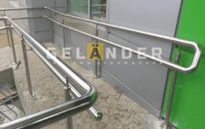 Ограхждение из нержавеющей стали для магазина Пятерочка