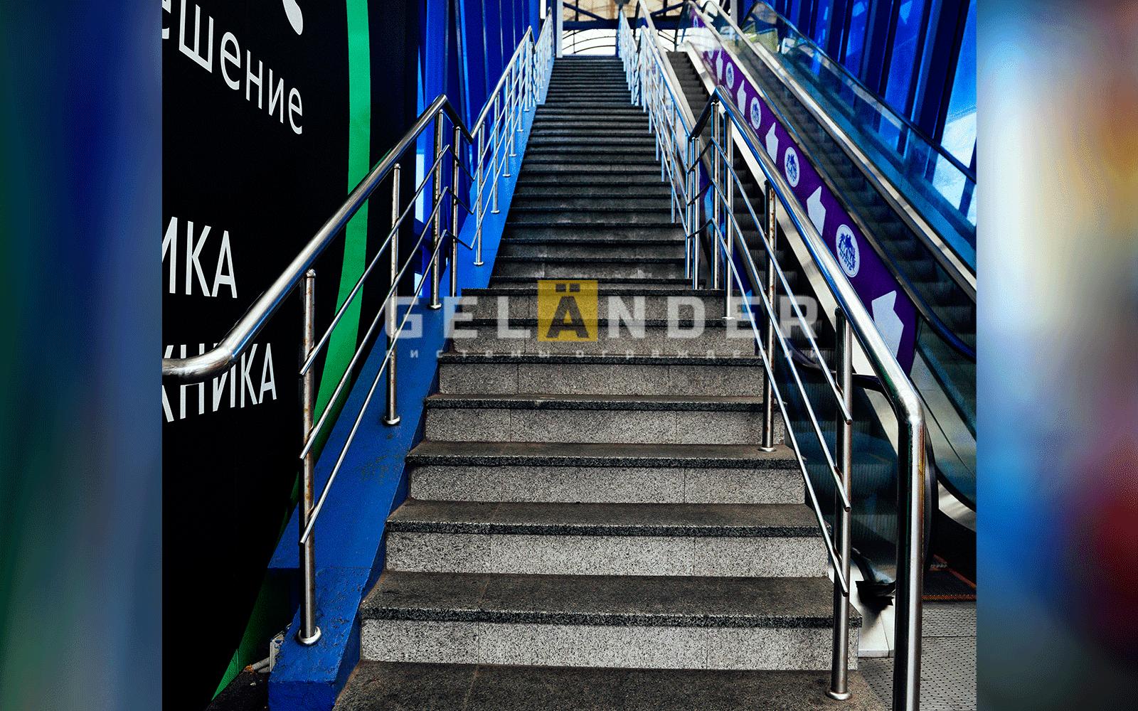 Надземный пешеходный переход, ТМК МегаГринн г.Орёл ограждений лестниц промсервис