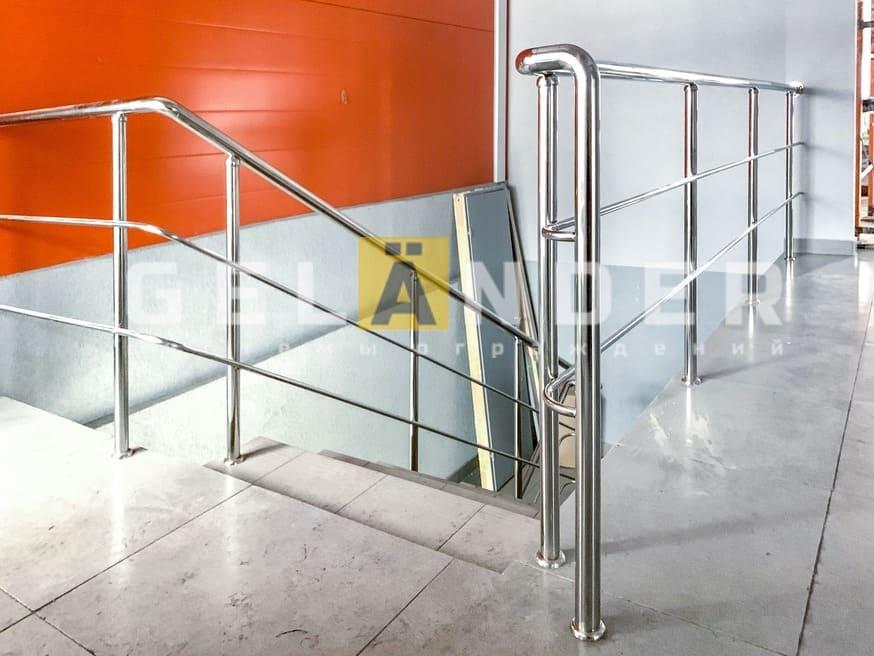 Сеть магазинов «Горки» г. Орёл; ограждений лестниц промсервис