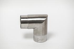 Поворот 90° трубы 50,8мм литой, зеркальный. ограждений лестниц промсервис