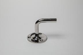 Пристенный держатель поручня без ложемента, 3отв. 5мм, зеркальный ограждений лестниц промсервис