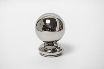 Заглушка декоративная сферическая.42,4мм, зеркальное. ограждений лестниц промсервис