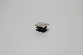 Заглушка забивная пластиковая 25х25мм (хром) ограждений лестниц промсервис