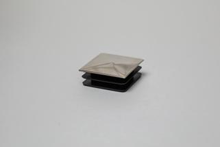 Заглушка забивная пластиковая 40х40мм (хром) ограждений лестниц промсервис